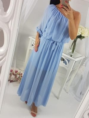 Šaty na jedno rameno zdobené mašľou