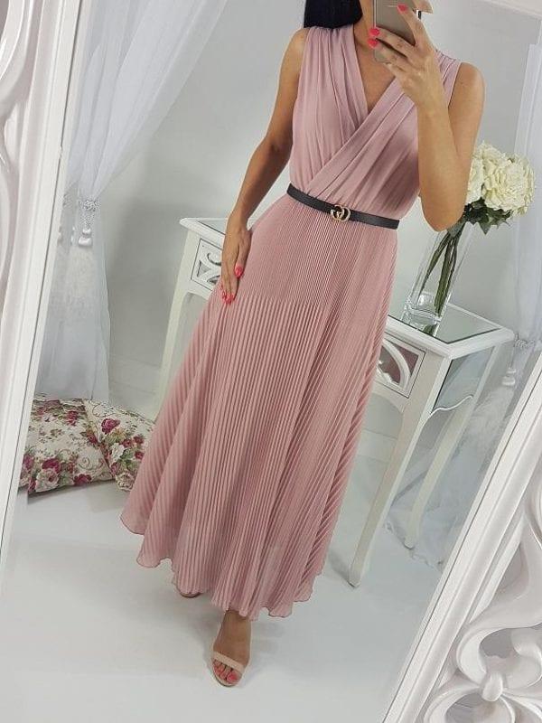 Elegantné midi šaty plis EVA